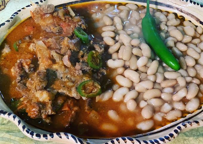 Stake Ranchero with whole Beans 10 #mommasrecipes