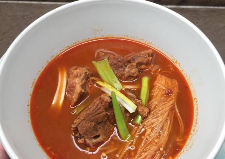 Resep Spicy Korean Soup Ribs (Haejangguk), Enak