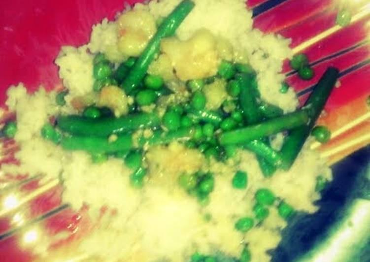 Recipe of Homemade Shrimp over Coconut Rice