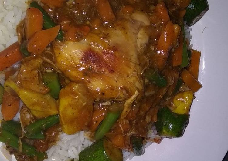 Simple Way to Prepare Homemade Vegetable and chicken stew
