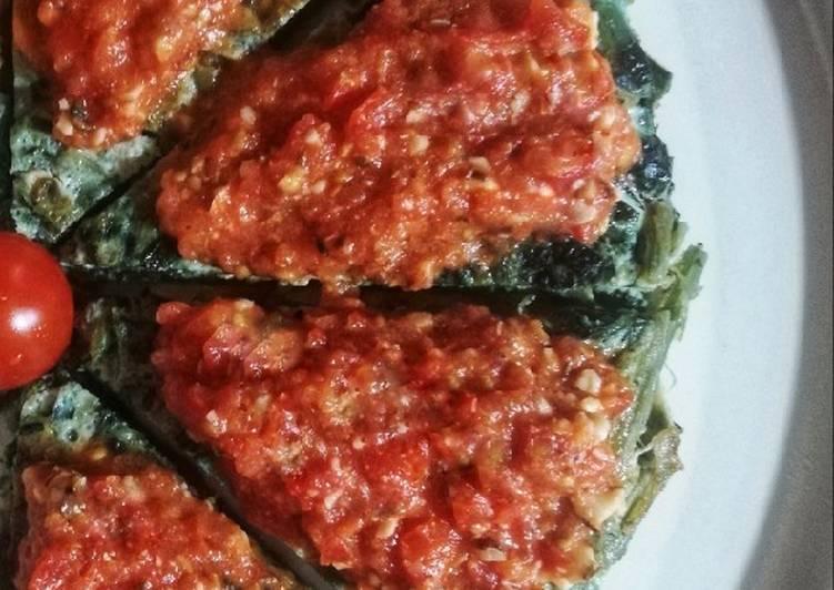 Ricetta Frittata di cicoria catalogna con salsa cruda di pomodorini 🌷