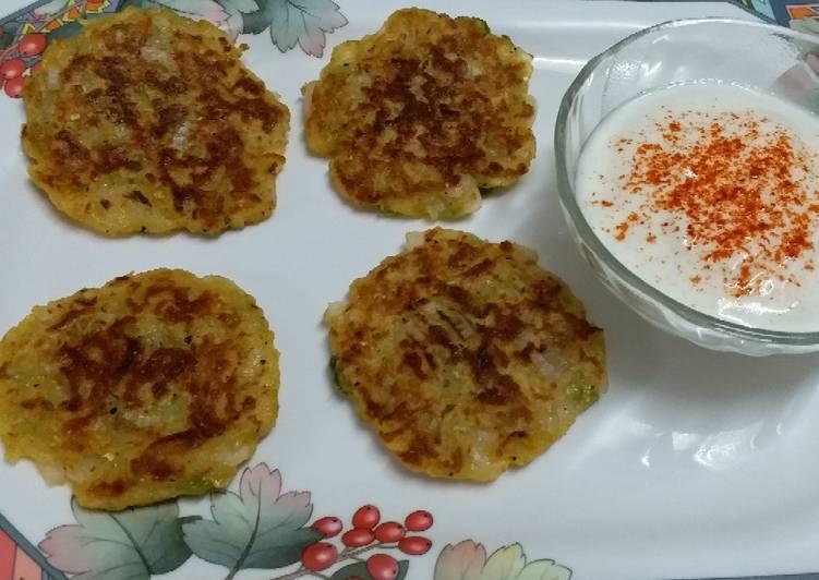 Aloo Cheela (Potato Pancakes)