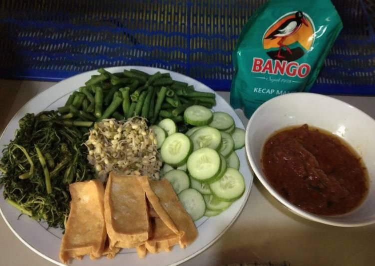 Sayur Lalapan + Sambel pecel Sederhana dan mudah