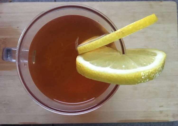 Air Teh Lemon Halia - resepipouler.com