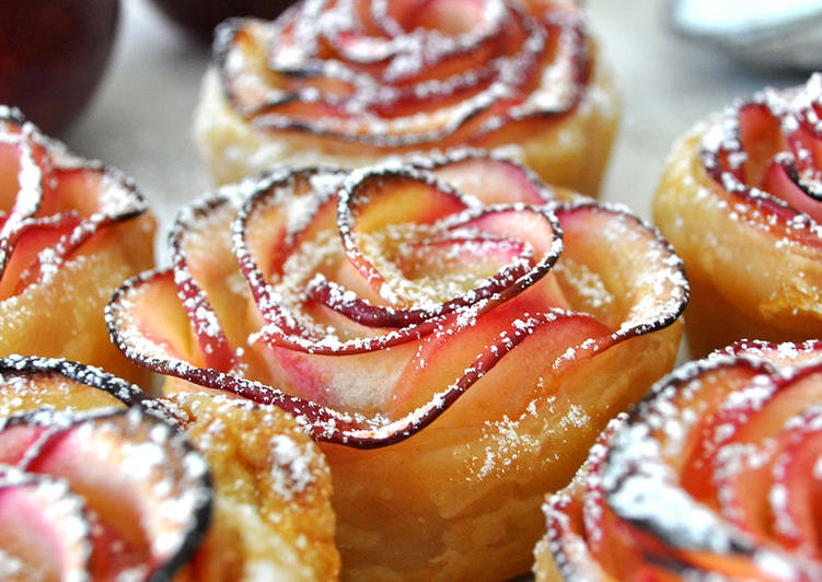 Tartelettes feuilletées « boutons de rose »