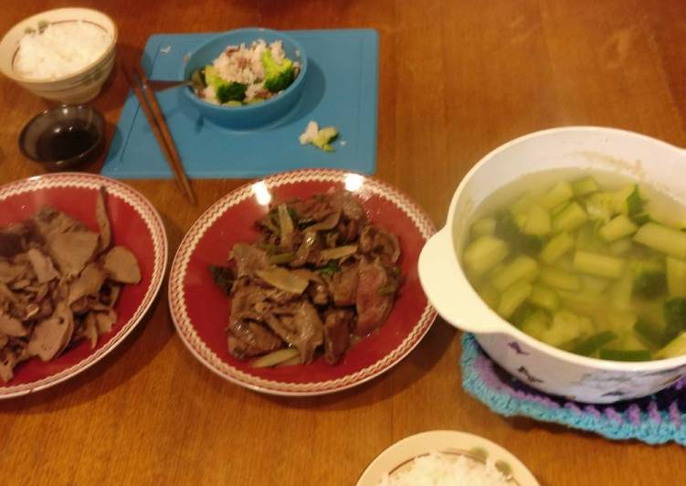 Boiled and stirfried pork heart