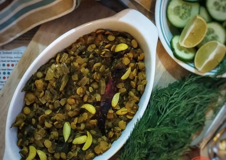Dill leaves lentil curry | Suva-toordal bhaji | Sabsige soppina palya