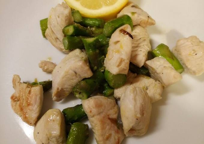 Quick week night tasty healthy chicken and asparagus