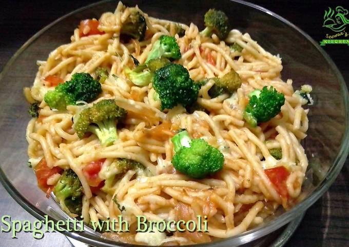 Recipe: Yummy Broccoli Spaghetti Recipe