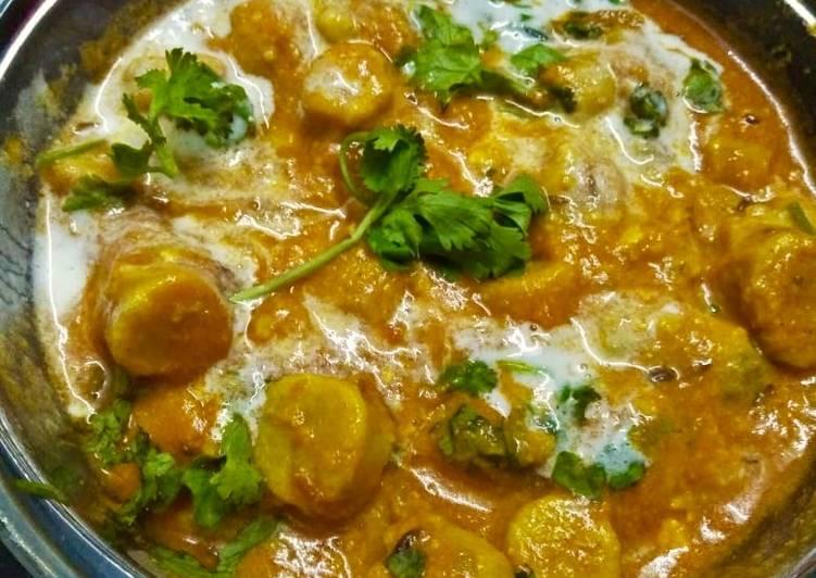 Recipe of Speedy Gatta curry Rajasthani gatte curry