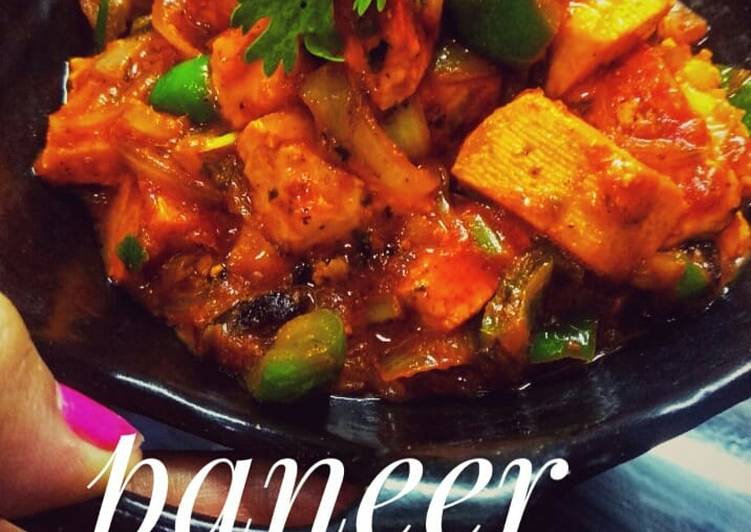 10 Minute Recipe of Homemade Paneer jalfrezi