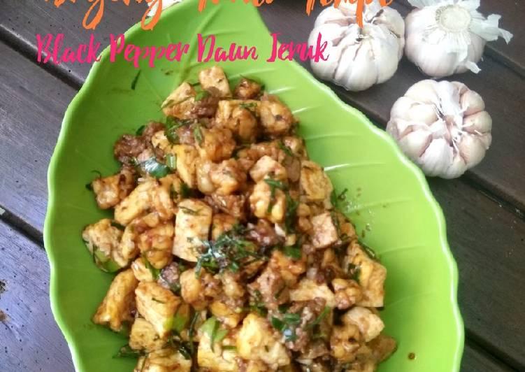Daging Tahu Tempe Black Pepper Daun Jeruk