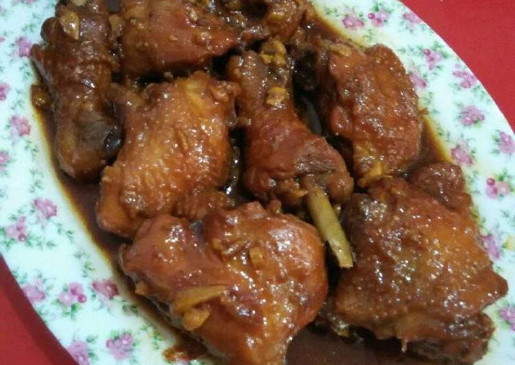 Ayam kampung kecap( bango)