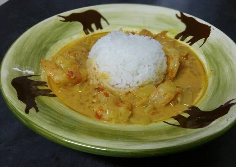 Spicy Shrimps in Coconut Milk