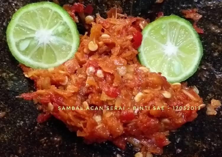 Sambal Acan Serai (sambal khas banjar pakai serai) 2 versi