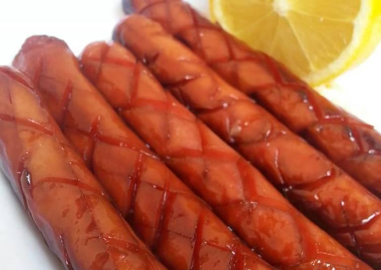 Resep Honey lemon chicken sausage Yang Simple Endes