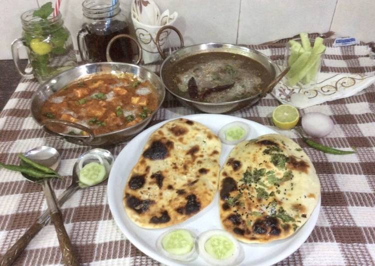 Dal Makhani Restaurant style,Shahi Paneer,butter Naan & garlic Naan Choosing Fast Food That's Good For You