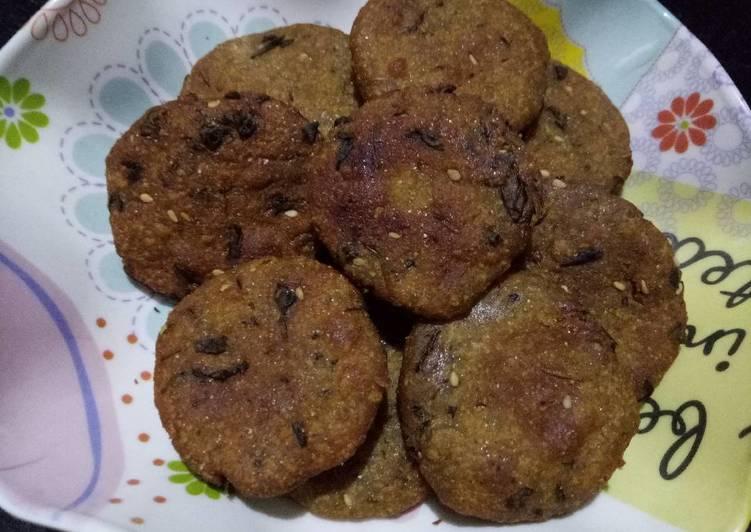 5 Minute Steps to Make Any Night Of The Week Millet vada (bajri methi vada)