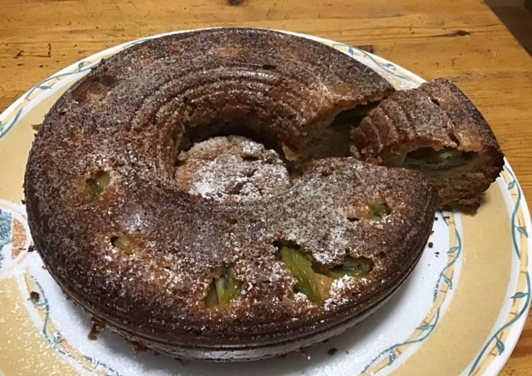 Gâteau châtaignes et kiwis