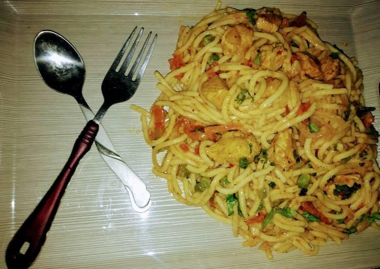 Easy Recipe: Perfect Chicken veg creemi spaghetti
