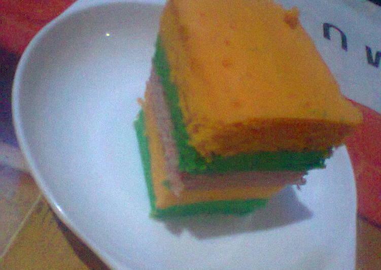 Resep Bolkus rainbow Ny.Liem (super duper lembuutt), Enak Banget