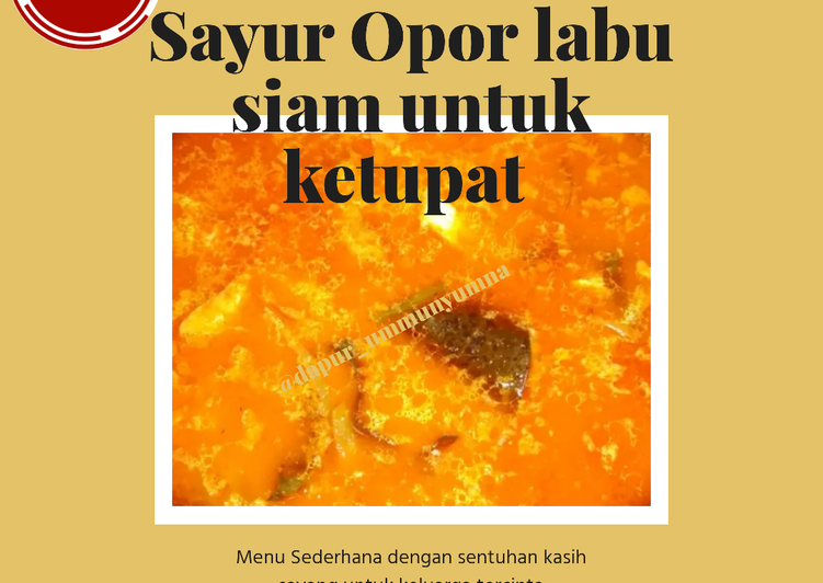 #5. Sayur opor labu siam untuk ketupat