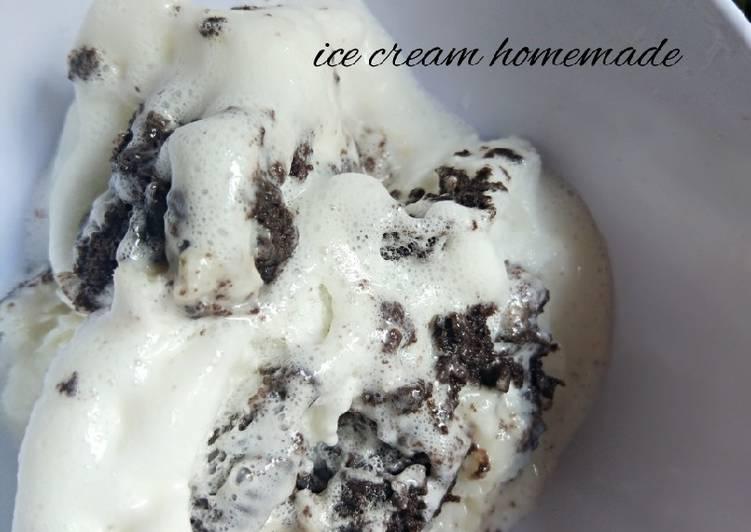 Vanilla oreo ice cream