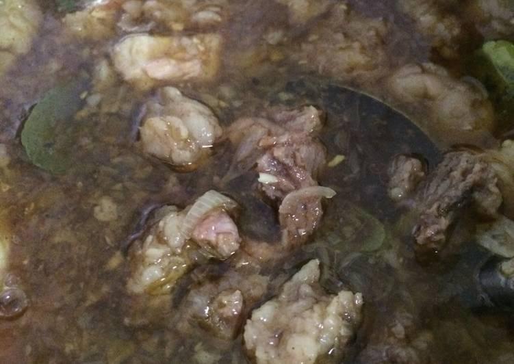 Rawon daging sapi bumbu bamboe praktis