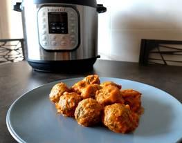 Albóndigas de pavo y espinacas en Instant Pot