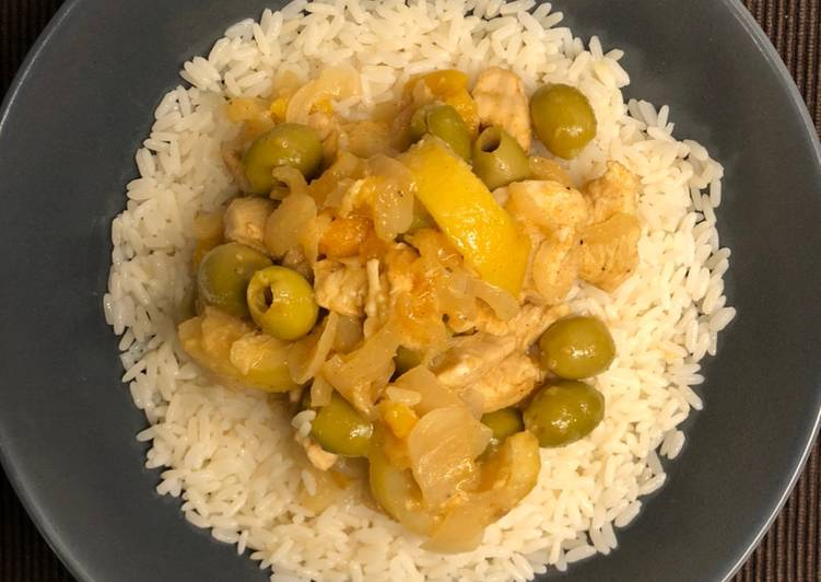 Easiest Way to Make Perfect Poulet au citron et olives