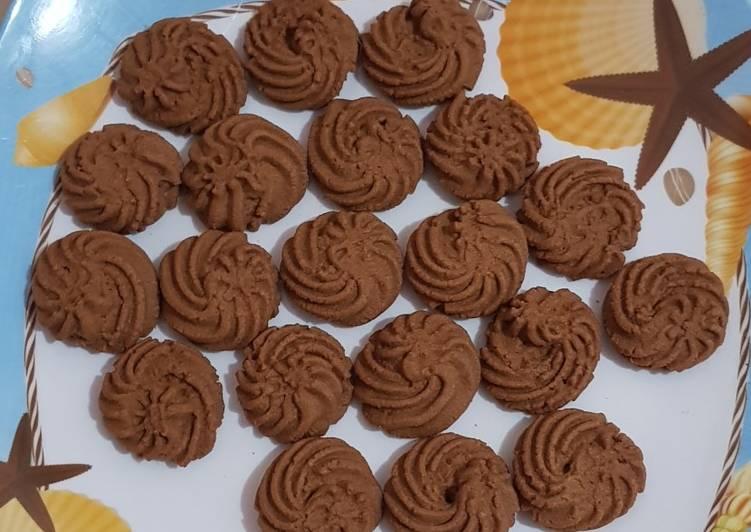 Butter Cookies Cokelat