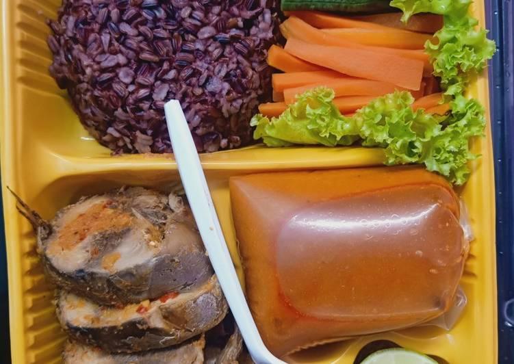 Ikan tongkol Asam padeh no oil bekal diet enak