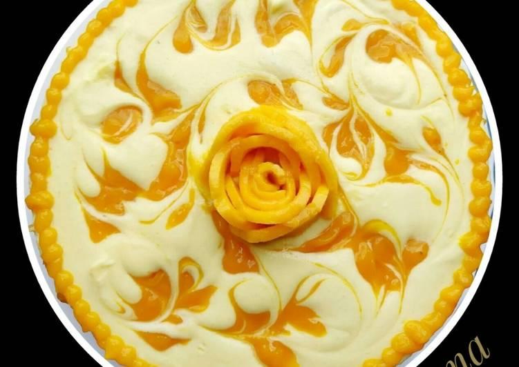 Recipe of Favorite Mango Cheesecake (no bake)