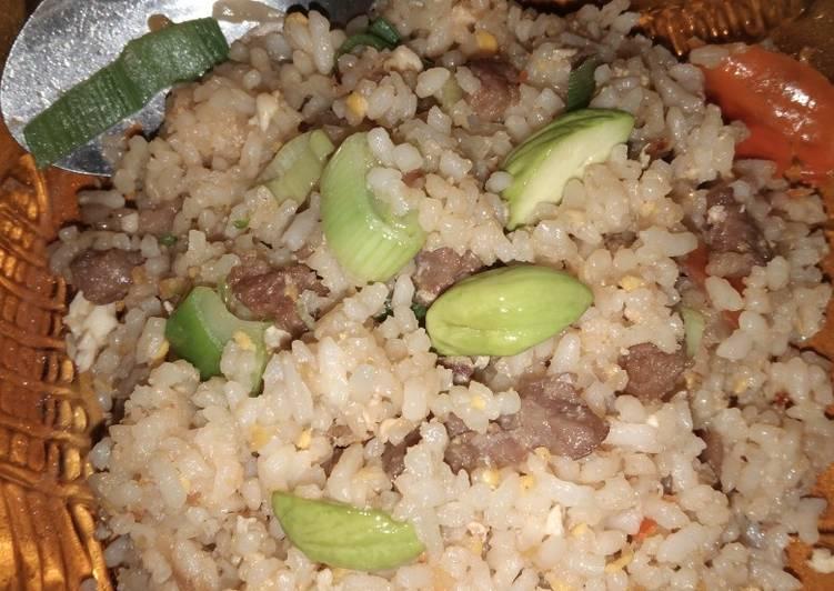 Nasi goreng daging + pete