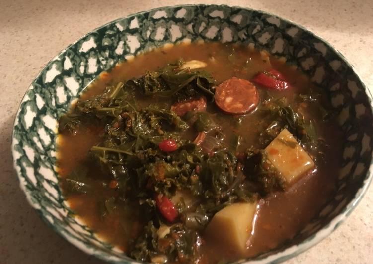Recipe of Quick Kale and Chorizo soup