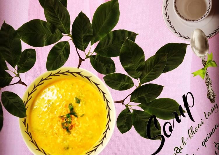 Soup cá hồi (quinoa- yến mạch - rau củ)