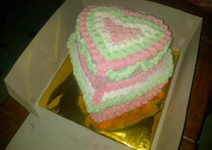 Wedding cake full cream sederhana
