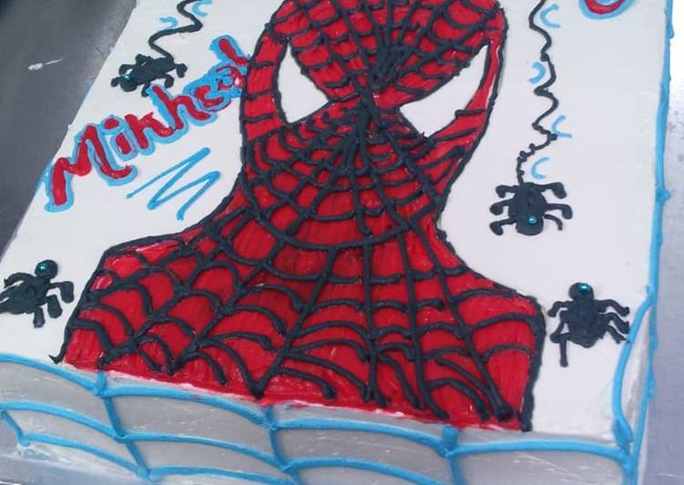 Steps to Make Quick Simple spider man cake