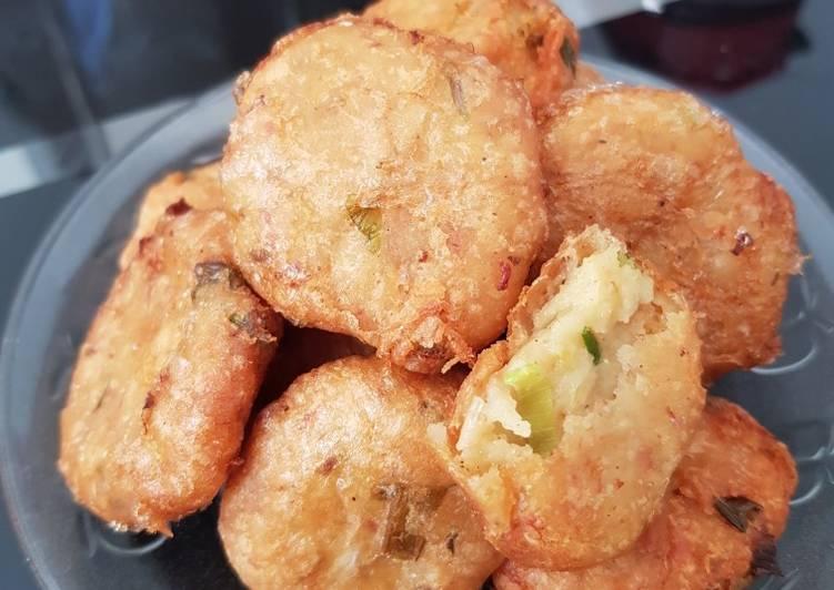 #19 perkedel kentang with ham kriuk luar lumer dalam ❤
