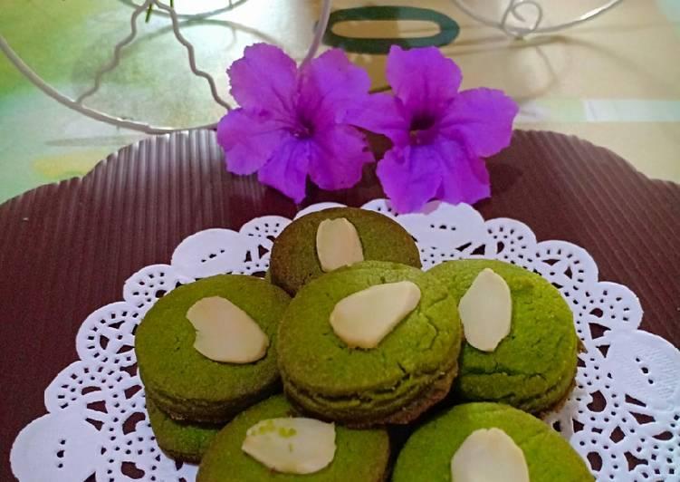 Green Tea Cookies with Almond ala Didi || Almond Matcha Cookies