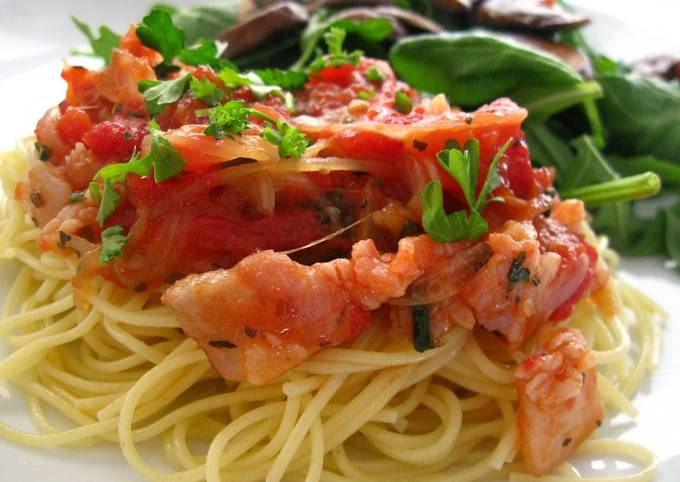 Step-by-Step Guide to Make Gordon Ramsay 20 Minute Pasta w/ Bacon Tomato Sauce for 2