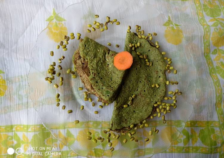 25 Minute Recipe of Vegan Green Gram Dosa