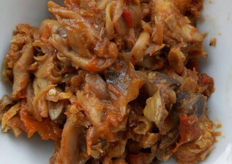 Sambel Jamur Tiram, Ayam, Ampela