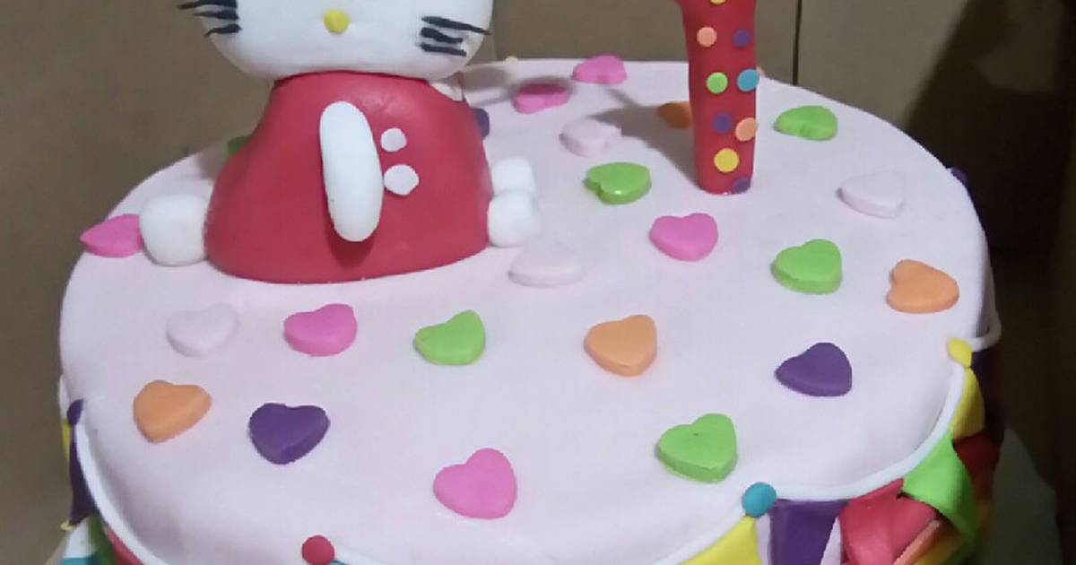 61 Resep Kue Ultah Hello Kitty Enak Dan Sederhana Cookpad