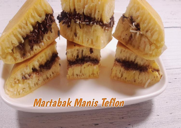 Martabak Manis Teflon || Ekonomis Dan Anti gagal