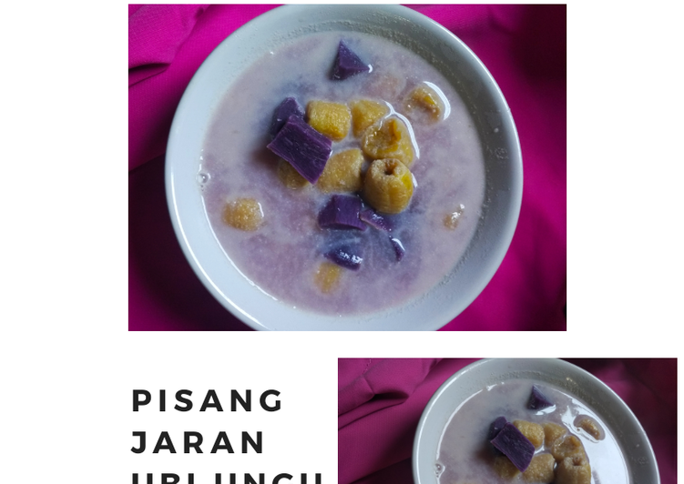 Kolak pisang jaran ubi ungu