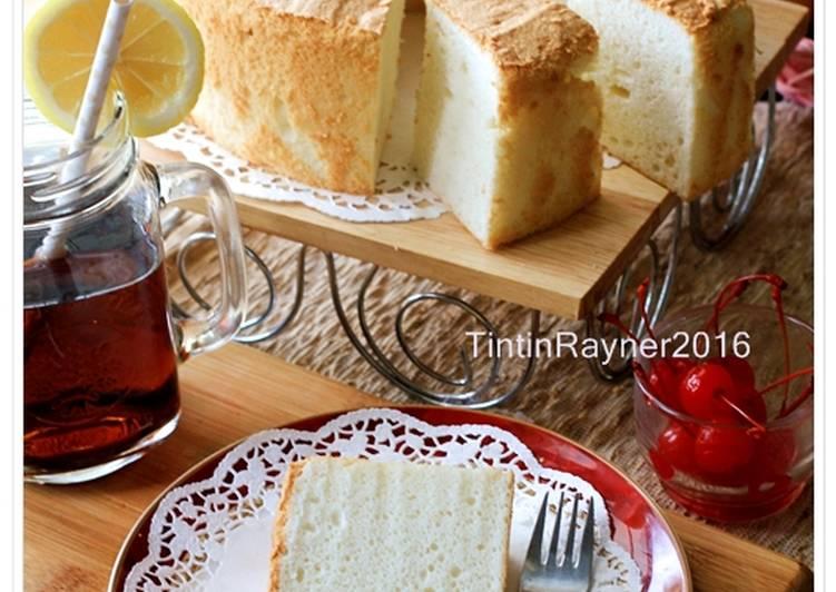 Cara mudah membuat Angel Food Cake versi Joy Of Baking – Cake putih telor,Low Fat,no Oil.