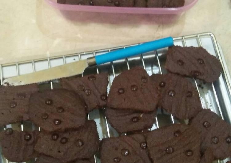 Cookies Brownies anti gagal (pakai nutricake)