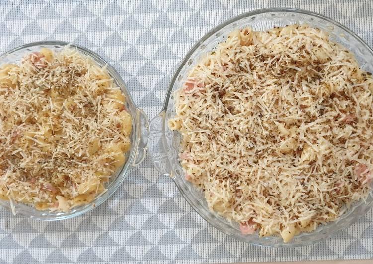 Macaroni Schotel kukus panggang