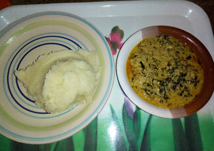 Choosing The Right Foods May Help You Stay Fit And Also Healthy Semovita and egusi soup